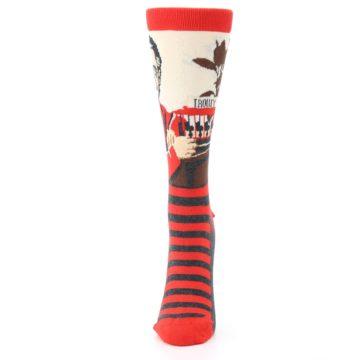 Image of Mister Rogers Socks – Red Women's Dress Socks (side-2-front-06)