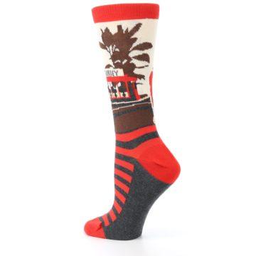 Image of Mister Rogers Socks – Red Women's Dress Socks (side-2-back-14)