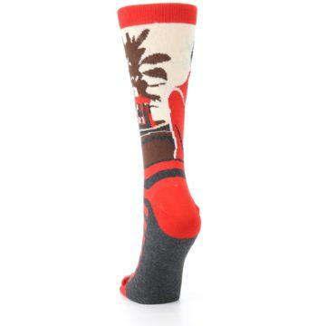 Image of Mister Rogers Socks – Red Women's Dress Socks (back-17)
