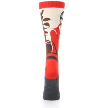 Image of Mister Rogers Socks – Red Women's Dress Socks (back-19)