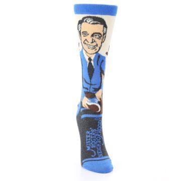 Image of Mister Rogers Socks – Blue Women's Dress Socks (front-04)