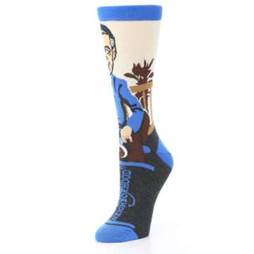 Image of Mister Rogers Socks – Blue Women's Dress Socks (side-2-09)