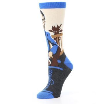 Image of Mister Rogers Socks – Blue Women's Dress Socks (side-2-10)