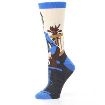 Image of Mister Rogers Socks – Blue Women's Dress Socks (side-2-11)