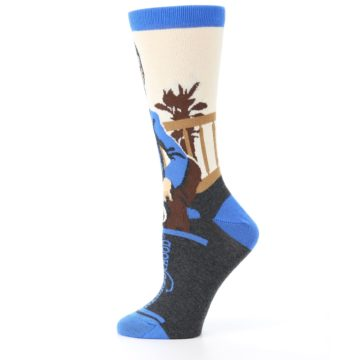 Image of Mister Rogers Socks – Blue Women's Dress Socks (side-2-12)