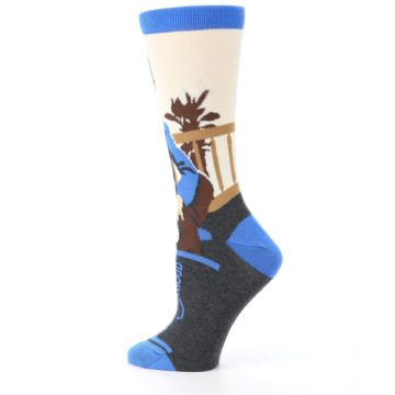 Image of Mister Rogers Socks – Blue Women's Dress Socks (side-2-13)