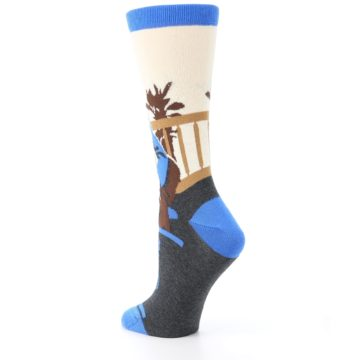 Image of Mister Rogers Socks – Blue Women's Dress Socks (side-2-back-15)