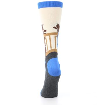 Image of Mister Rogers Socks – Blue Women's Dress Socks (back-18)