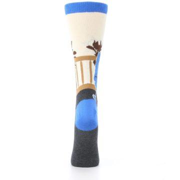 Image of Mister Rogers Socks – Blue Women's Dress Socks (back-19)