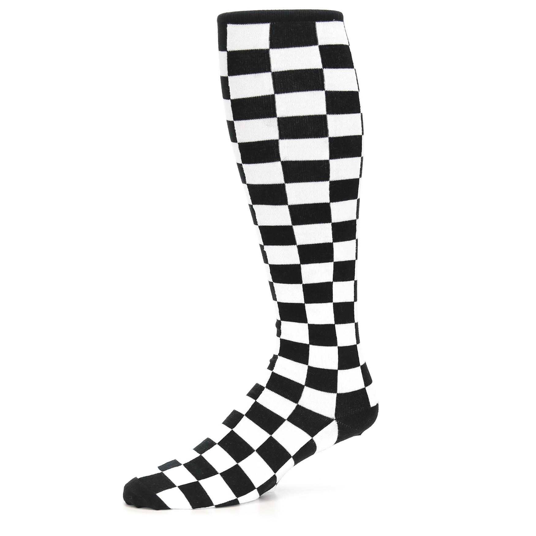 High Quality Black /& White Checked Socks