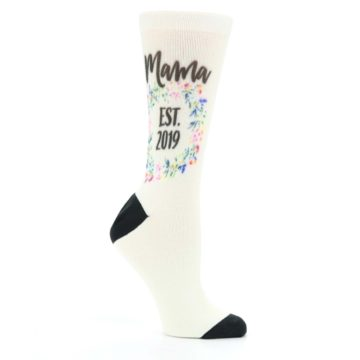 Image of Ivory Year Mama Established Women's Custom Dress Socks (side-1-26)