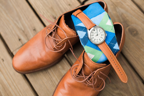 |Blue and Green Wedding Socks