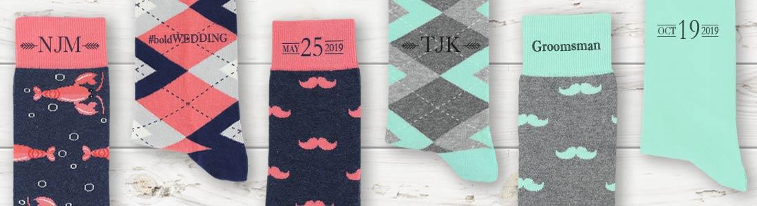 c5026d7aef8 Personalized Socks - Men's Dress Socks Custom Text | boldSOCKS