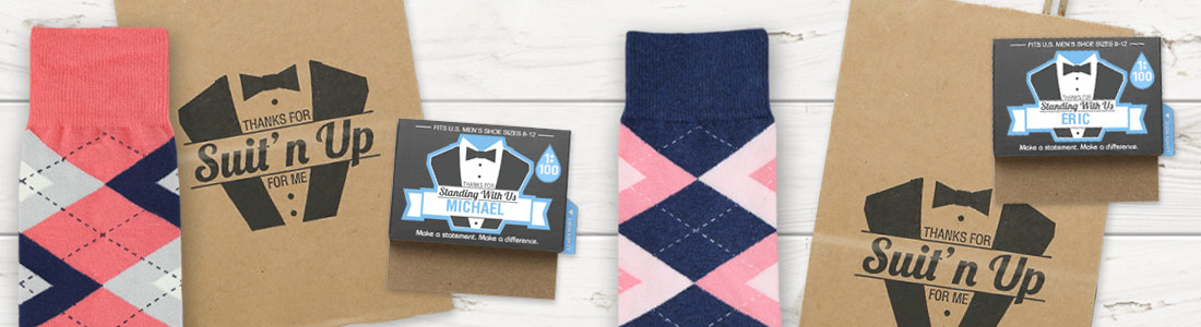 Example of Groomsmen Wedding Sock Kits from boldSOCKS