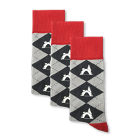 Example of Tent Camping Socks available on boldSOCKS