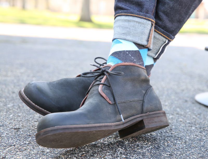 Example of 3 Important Rules for Dress Socks