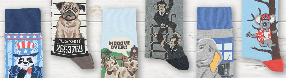 Example of Men's Animal Joke Socks from boldSOCKS