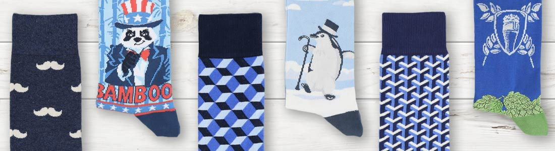 Example of Men's Blue Dress Socks from boldSOCKS