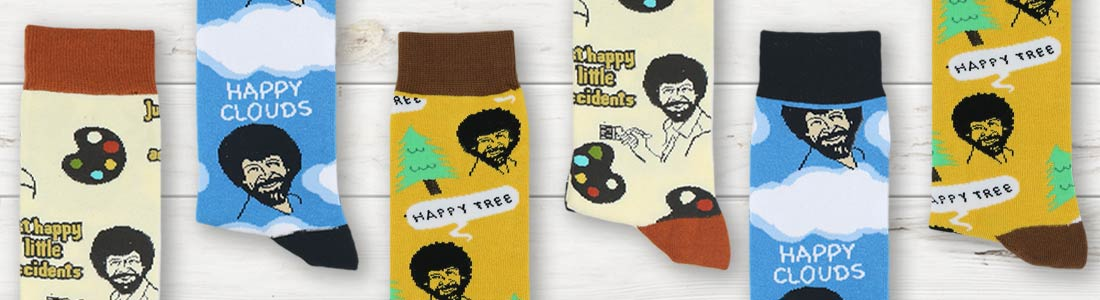 Shop Men's Bob Ross Dress Socks from boldSOCKS