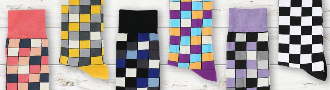 Example of Men's Checkered Dress Socks from boldSOCKS