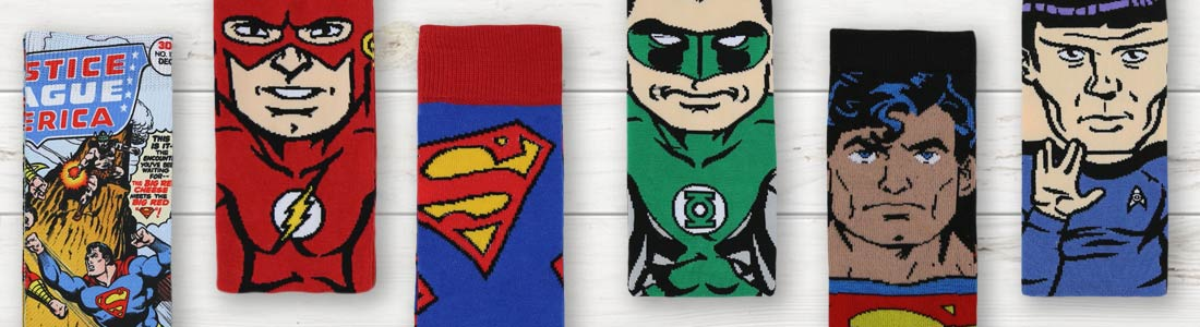 Example of Men's DC Comics Dress and Casual Socks from boldSOCKS