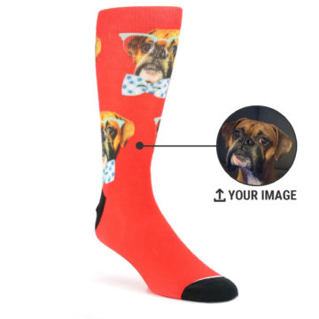 1af160b7501 Image of Dapper Dog Custom Face Print Men s Socks (multiple colors)