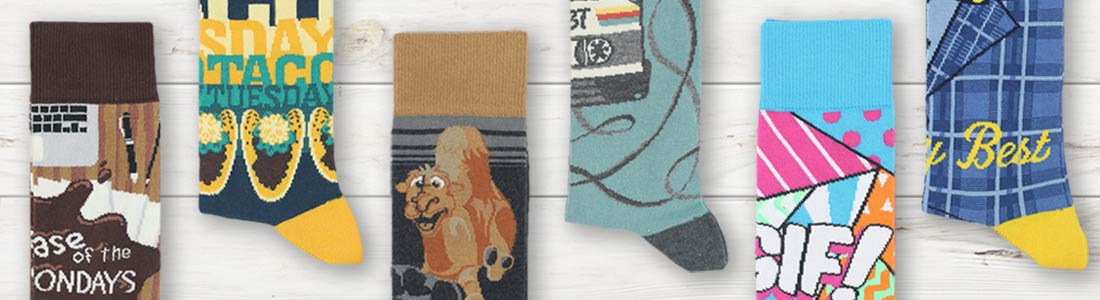 Example of Men's Days of the Week Socks from boldSOCKS