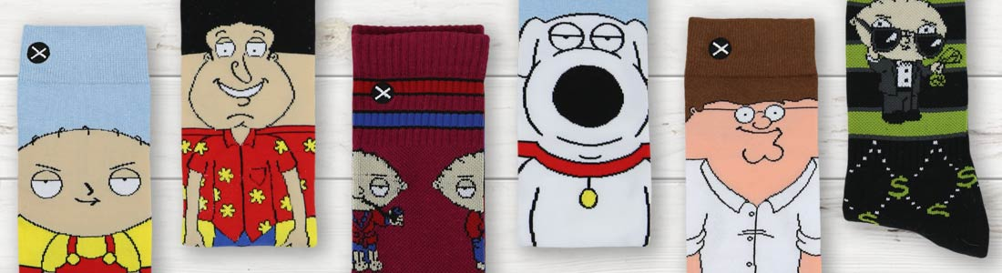 Shop Men's Family Guy Socks from boldSOCKS