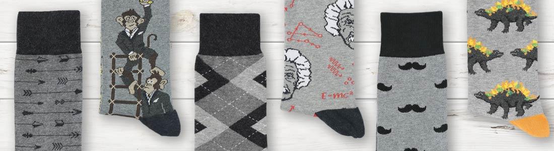 Shop Men's Gray Dress Socks from boldSOCKS