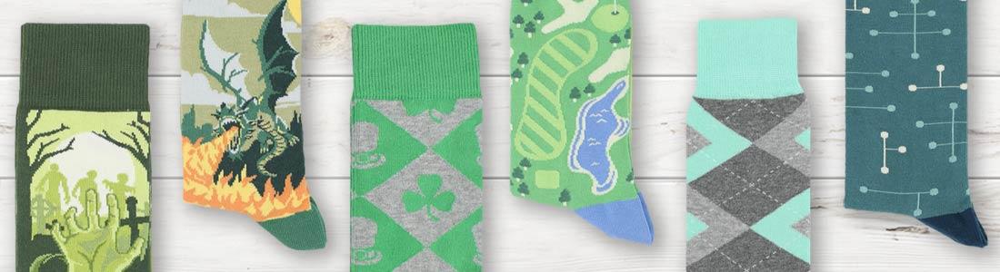 Example of Men's Green Dress Socks from boldSOCKS