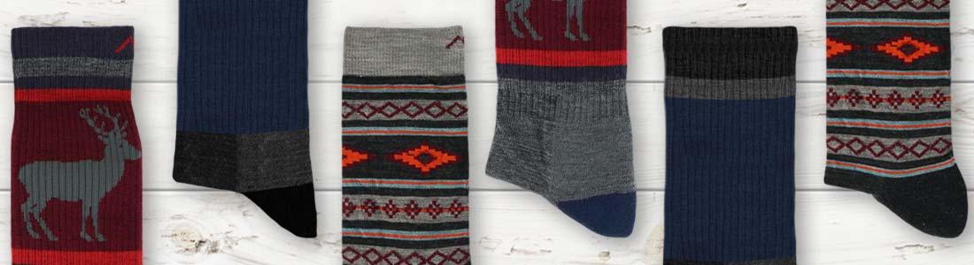Example of Men's Hiking Socks from boldSOCKS
