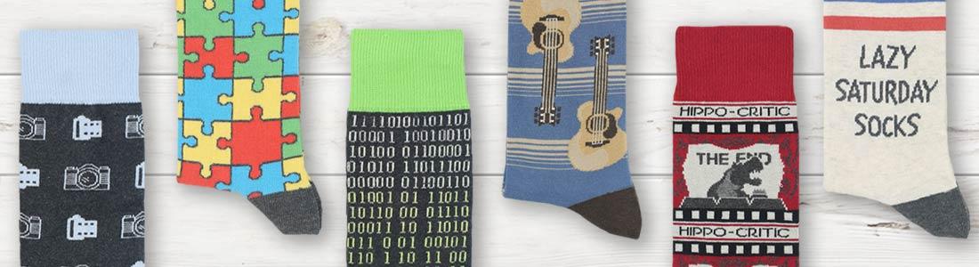 Example of Men's Hobby Dress Socks from boldSOCKS
