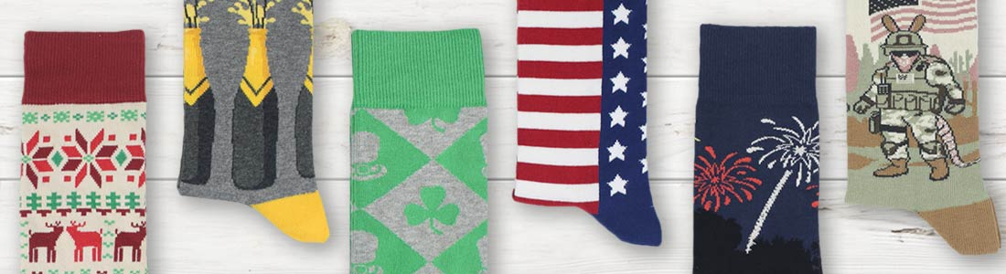 Example of Men's Holiday Dress Socks from boldSOCKS