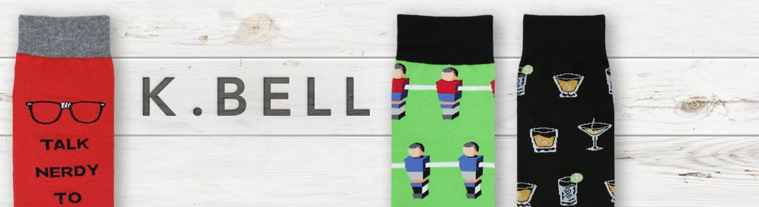 Example of Men's K Bell Socks from boldSOCKS