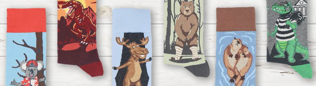 Example of Men's Land Animal Dress Socks from boldSOCKS