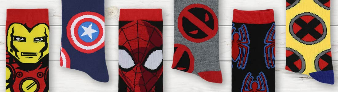 Shop Men's Marvel Dress and Casual Socks from boldSOCKS