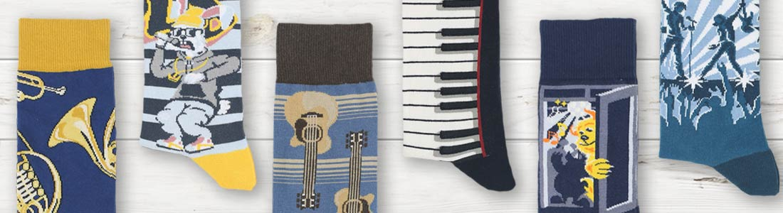 Example of Men's Music Dress Socks from boldSOCKS