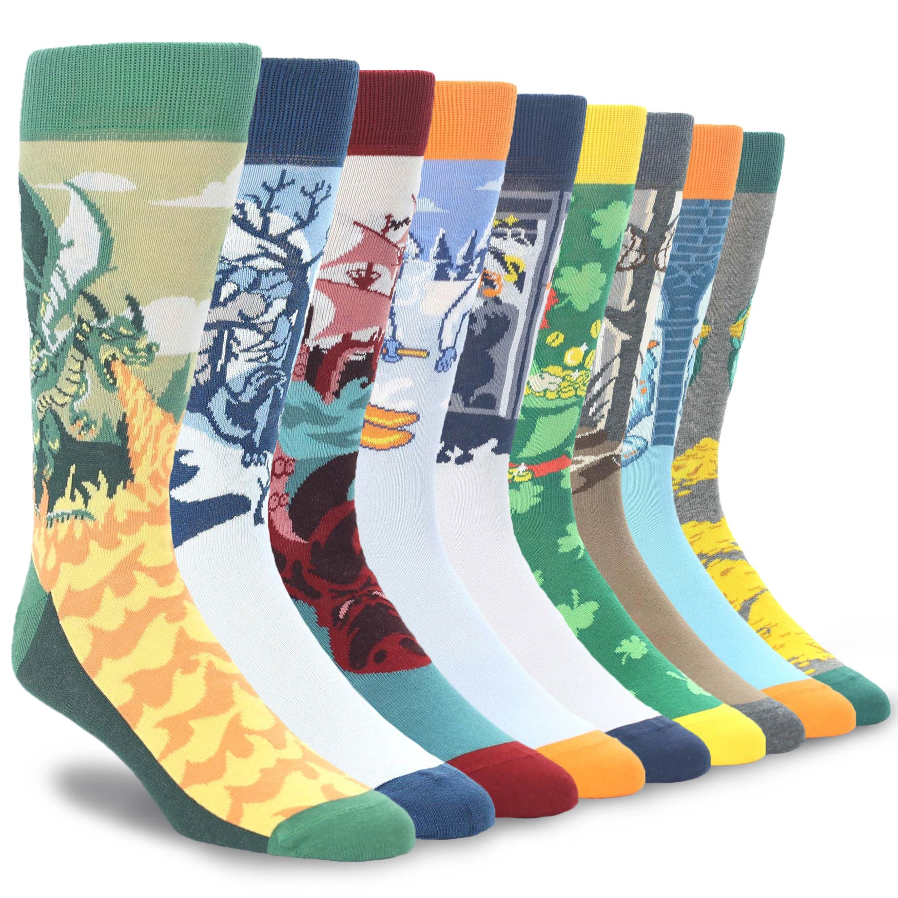 Example of Men's Mythical Creature Dress Socks from boldSOCKS