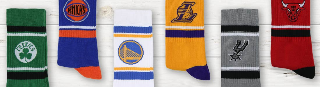 Example of Men's NBA Basketball Casual Socks from boldSOCKS