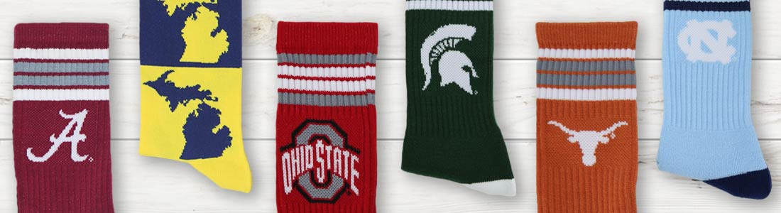 Shop Men's NCAA Dress Socks from boldSOCKS