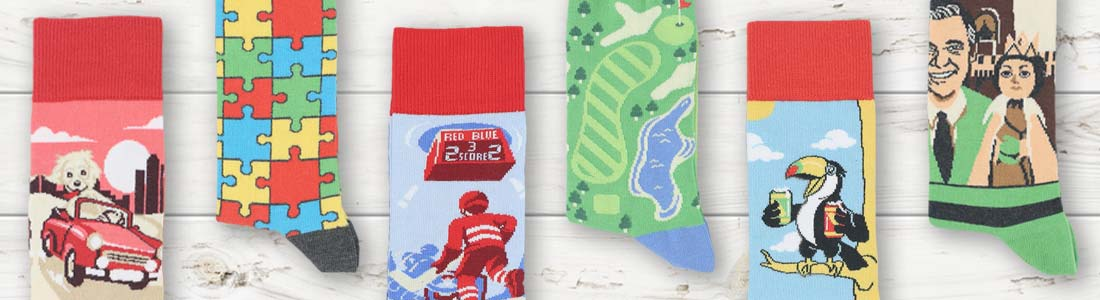 Example of Men's Novelty Socks from boldSOCKS
