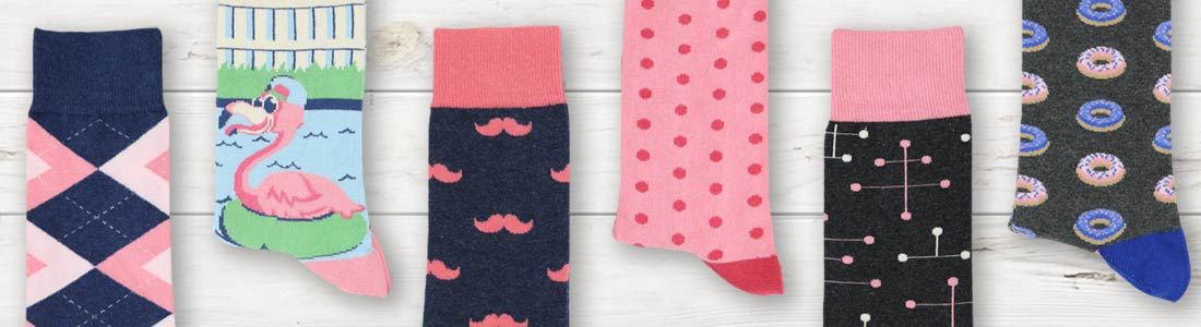 Example of Men's Pink Dress Socks from boldSOCKS