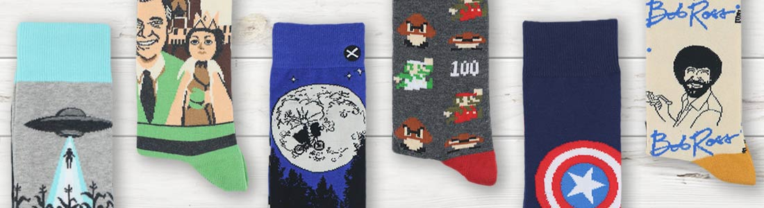 Shop Men's Pop Culture Dress Socks from boldSOCKS