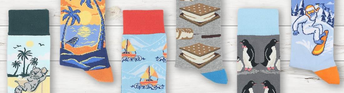 View of Men's Seasonal Dress Socks from boldSOCKS