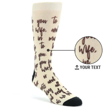 8ec53b6e2 Image of Champagne Sweet Sentiment Custom Note Socks - Script Socks