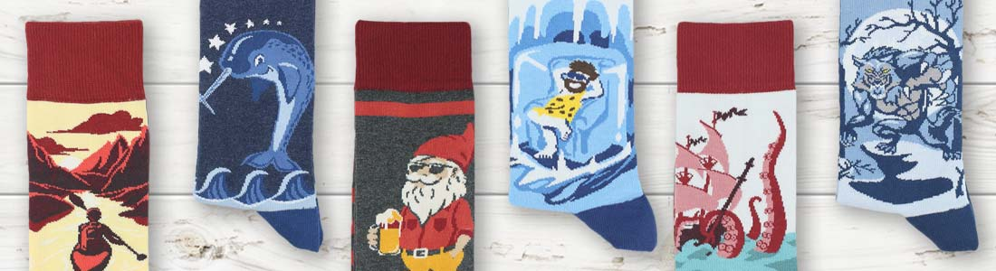 Examples of Men's Dress and Performance Socks from boldSOCKS