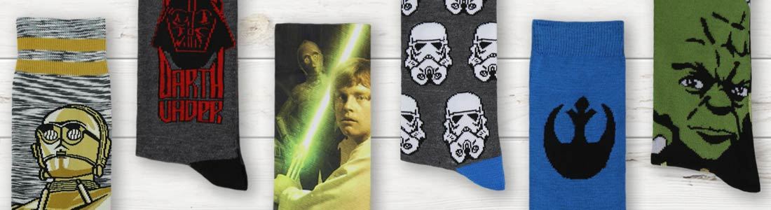 Example of Men's Star Wars Dress and Casual Socks from boldSOCKS