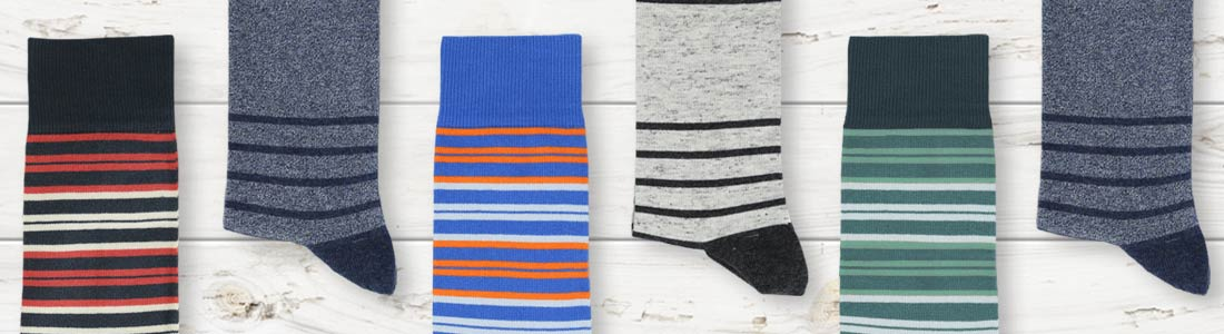 Example of Men's Striped Dress Socks from boldSOCKS