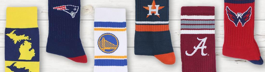 Shop Men's Team Sports Dress Socks from boldSOCKS