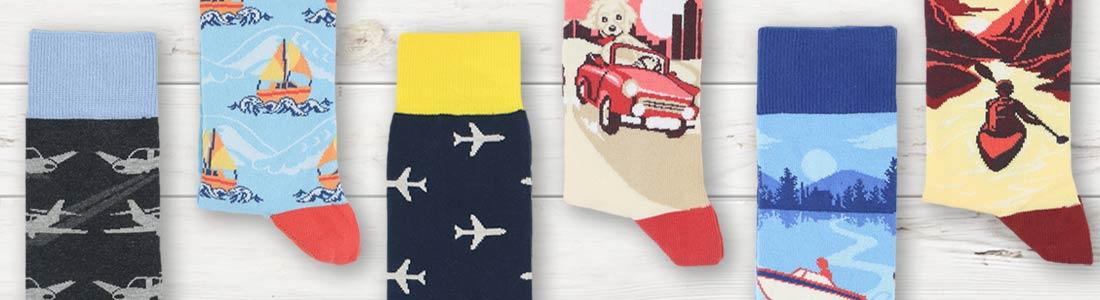 Example of Men's Transportation Dress Socks from boldSOCKS